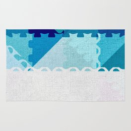 Decorative Pastel Puzzel Abstract Rug