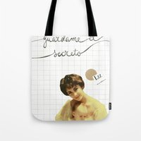 jenny liz rome Tote Bags featuring liz by Willy Ollero
