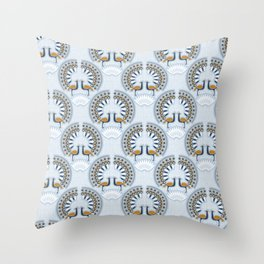 Art Deco retro Peacock Throw Pillow