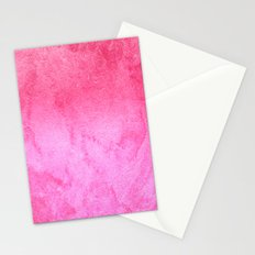 Pink Watercolor Gradient Stationery Cards