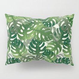Exotic Palm Leaf Pattern Pillow Sham