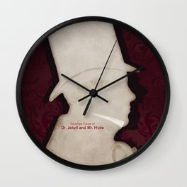 Robert Louis Stevenson, Dr. Jekyll and Mr. Hyde - Minimalist Literary Design Wall Clock