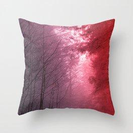Rose Snowstorm Throw Pillow