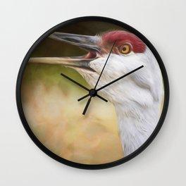 Bird Art - Look Who's Talking Wall Clock