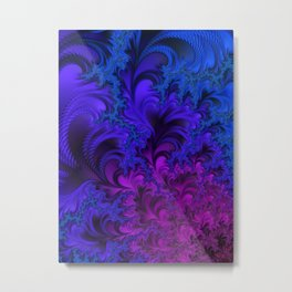 Midnight Insanity Fractal  Metal Print