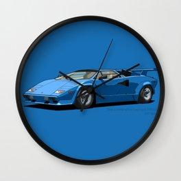 Lamborghini Countach 5000QV Blu Tahiti (US spec) Wall Clock