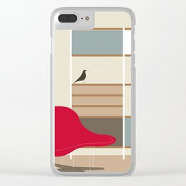 Inside Mid-century modern 01_16 Clear iPhone Case