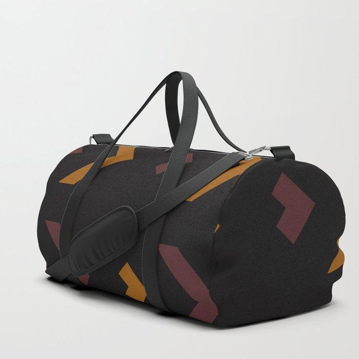 Vintage Chevron Duffle Bag