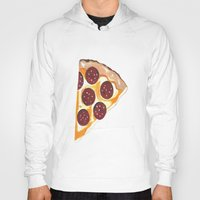 pizza Hoodies featuring Pizza by Sartoris ART