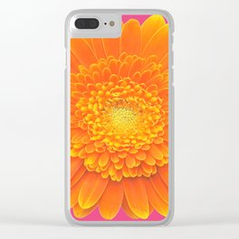 hot summer flower Clear iPhone Case