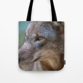 Red Wolf Stares Tote Bag