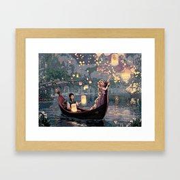 Tangled Rapunzel Framed Art Print