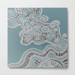 Just a Squiggle Here and There Metal Print