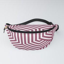 Quinacridone magenta - violet - Minimal Vector Seamless Pattern Fanny Pack