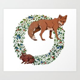 Fox and the Hare Art Print