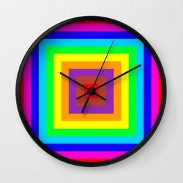 Multi coloured square background Wall Clock
