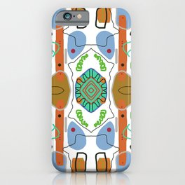Multi Colored Line And Shape Abstract Pattern iPhone Case