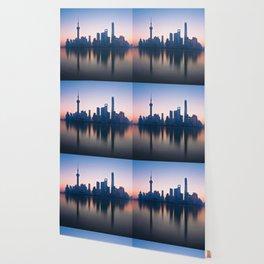 Shanghai Skyline over Huangpu River Wallpaper