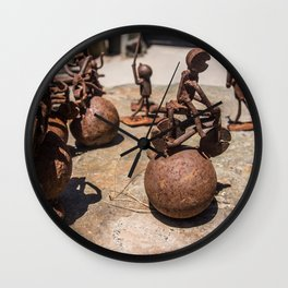 Rusty Metal Figures Wall Clock