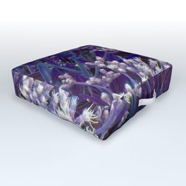 Bunches of Tiny Flowers Outdoor Floor Cushion