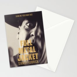 Full Metal Jacket, Stanley Kubrick, alternative movie poster, minimalist print, Vietnam War, Marines Stationery Cards