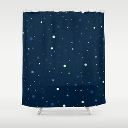 Blue and Green Cosmos Shower Curtain