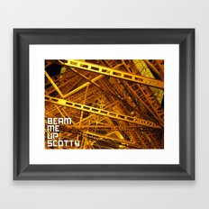 Beam Me Up Framed Art Print