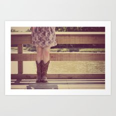 Thank God I Was Born a Country Girl Art Print