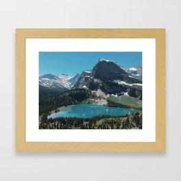 Lower Grinnell Lake, Glacier National Park, Montana Framed Art Print