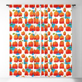 Pumpkins and sky rectangles Blackout Curtain