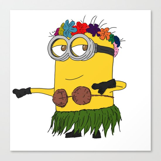 Hawaii Minion  Canvas Print