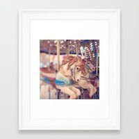 carousel Framed Art Prints featuring Carousel by Laura Ruth