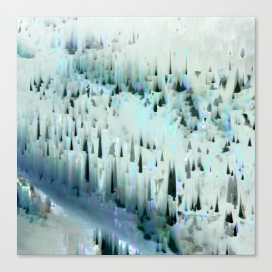 White Landscape / Snow 20-11-16 Canvas Print