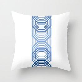 Blue Hexagons Throw Pillow