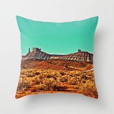 Long Road West Throw Pillow