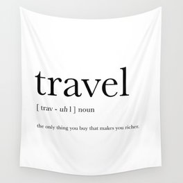 Travel Definition Wall Tapestry