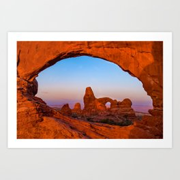 Arches National Park Colorful Morning Landscape Art Print