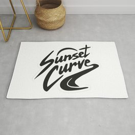 Sunset curve Rug