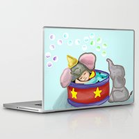 baby elephant Laptop & iPad Skins featuring Baby Elephant  by grapeloverarts