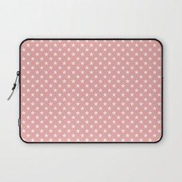 Bright White Stars on Blush Pink Laptop Sleeve