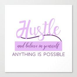Hustle in Purple Canvas Print