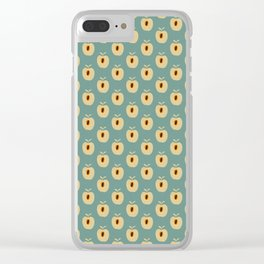 Quadrille 2 (Duck Egg Blue) Clear iPhone Case