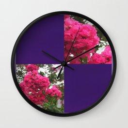 Crape Myrtle Blank Q9F0 Wall Clock
