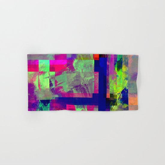 Pastel Geometry X - Abstract, goemetric, pastel coloured, textured artwork Hand & Bath Towel
