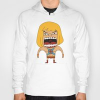 he man Hoodies featuring Screaming He-Man by That Design Bastard