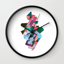 bach abstraction Wall Clock