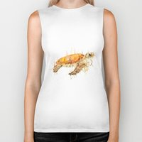 sea turtle Biker Tanks featuring Sea Turtle  by Meg Ashford