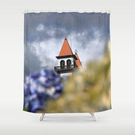 Church tower Shower Curtain