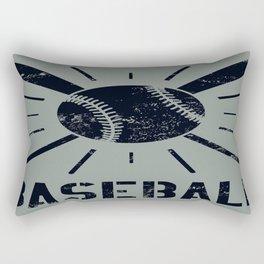 Baseball Typography Letter Rectangular Pillow