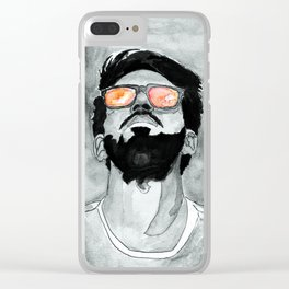 Rose-Tinted Glasses B&W Clear iPhone Case